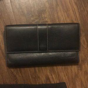 Vintage black coach wallet